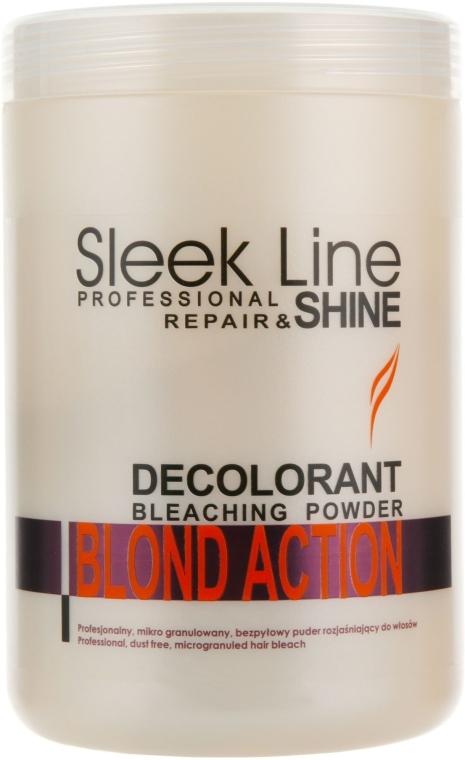 Rozjasňujúci prášok na vlasy - Stapiz Sleek Line Repair & Shine Blond Action