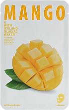 """Voňavky, Parfémy, kozmetika Textilná maska pre žiarivosť pokožky tváre """"Mango"""" - The Iceland Mango Mask"""