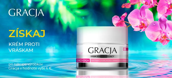 Pri nákupe výrobkov Gracja v hodnote vyše 6 € získaj krém proti vráskam ako darček
