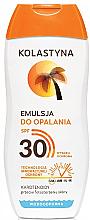 Voňavky, Parfémy, kozmetika Emulzia na opaľovanie ochranná - Kolastyna Suncare Emulsion SPF 30