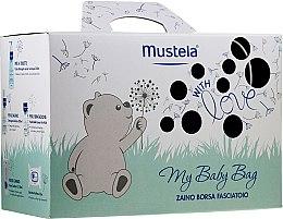 Voňavky, Parfémy, kozmetika Sada - Mustela My Baby Bag Set (water/300ml + gel/shm/200ml + f/cr/40ml + b/cr/50ml + wipes/25pcs + bag)