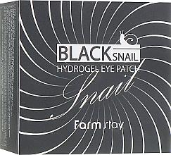 Voňavky, Parfémy, kozmetika Hydrogélové náplasti na oči s mucínom čierneho slimáka - FarmStay Black Snail Hydrogel Eye Patch