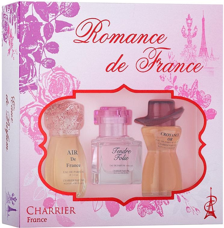 Charrier Parfums Romance De France - Sada (edp/11.5ml+edp/10.1ml+edp/12ml)