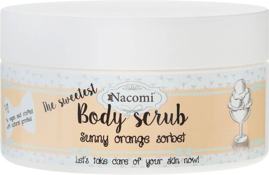 """Telový peeling """"Pomarančový sorbet"""" - Nacomi Sunny Orange Sorbet Body Scrub"""