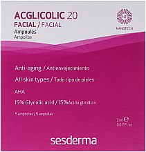 Voňavky, Parfémy, kozmetika Ampulky komplexného pôsobenia s kyselinou glykolovou - SesDerma Laboratories Acglicolic 20 Ampoules