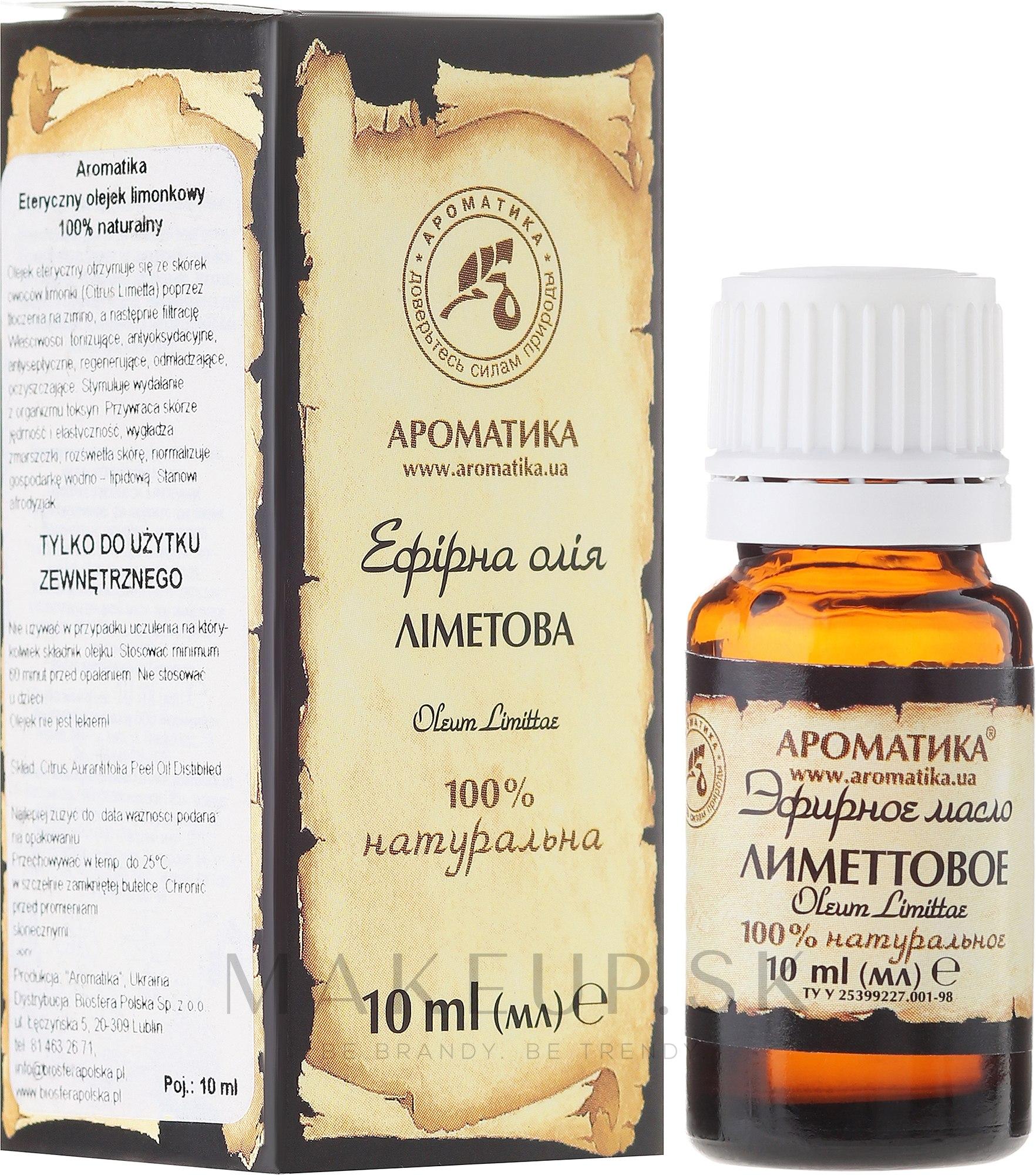 """Esenciálny olej """"Limetkový"""" - Aromatika — Obrázky 10 ml"""