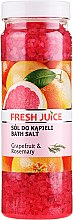 Voňavky, Parfémy, kozmetika Soľ do kúpeľa - Fresh Juice Grapefruit and Rosemary