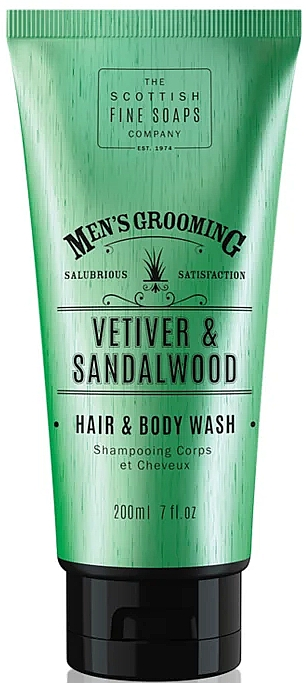 "Šampón-sprchový gél ""Vetiver a santalové drevo"" - Scottish Fine Soaps Vetiver & Sandalwood Hair Body Wash"
