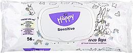 """Voňavky, Parfémy, kozmetika Vlhčené utierky """"Extrakt z aloe"""" - Bella Baby Happy Sensitive & Aloe Vera"""