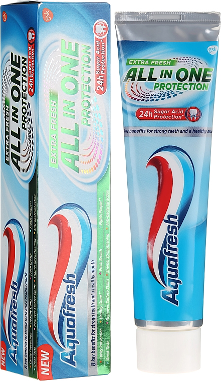 Zubná pasta - Aquafresh All In One Protection Extra Fresh