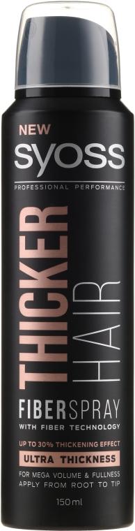 Sprej na zahusťovanie vlasov s technológiou Fiber - Syoss Thicker Hair Spray
