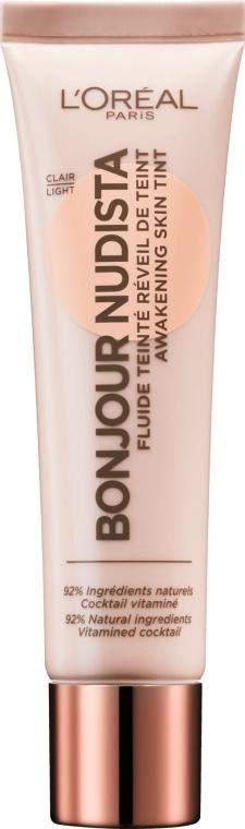 Tonálny BB-fluid na tvár - L'Oreal Paris Bonjour Nudista Cream BB