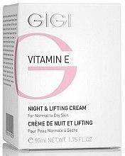 Voňavky, Parfémy, kozmetika Nočný liftingový krém - Gigi Vitamin E Night & Lifting Cream