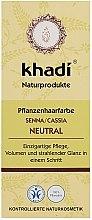 """Voňavky, Parfémy, kozmetika Organická maska-kondicionér na vlasy """"Neutrálna henna"""" - Khadi Hair Conditioner"""