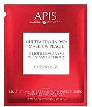Voňavky, Parfémy, kozmetika Textilná vitamínová maska na tvár - APIS Professional Cherry Kiss Multivitamin Sheet Mask