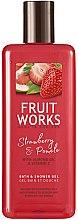 """Voňavky, Parfémy, kozmetika Sprchový gél """"Jahody a pomelo"""" - Grace Cole Fruit Works Hand Wash Strawberry & Pomelo"""