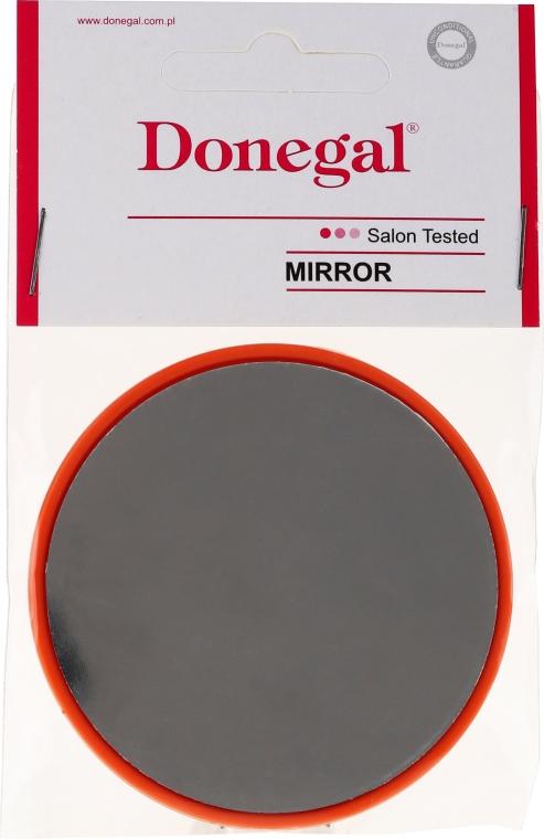 Kompaktné okrúhle zrkadlo, 9511, 7 cm, oranžové - Donegal