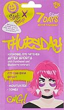"""Voňavky, Parfémy, kozmetika Hydrogélové náplasti pod oči """"Aktívny štvrtok"""" s panthenolom a čučoriedkovým extraktom - 7 Days Hydrogel Eye Patches"""