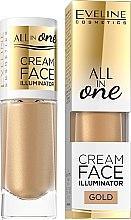 Voňavky, Parfémy, kozmetika Krémový highlighter - Eveline Cosmetics All In One Cream Face Illuminator