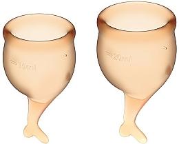 Voňavky, Parfémy, kozmetika Sada menštruačných kalíškov, oranžová - Satisfyer Feel Secure Menstrual Cups