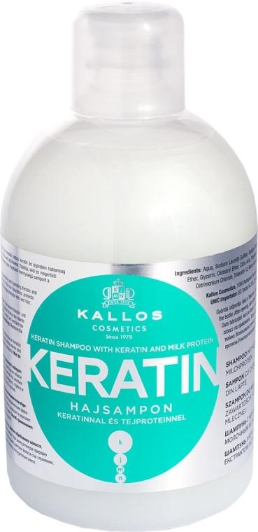 Šampón s keratínom a mliečnym proteínom - Kallos Cosmetics Keratin Shampoo