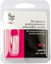 """Voňavky, Parfémy, kozmetika Univerzálne štvorcové tipy """"№6"""", 50 ks - Peggy Sage Tips"""