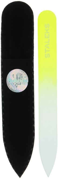 Krištáľový pilník na nechty, F4-12-90, žltý - Staleky (9 cm) — Obrázky N1
