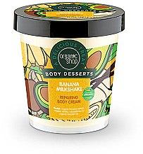 """Voňavky, Parfémy, kozmetika Krém na telo regeneračný """"Banánovo-mliečny koktail"""" - Organic Shop Body Desserts Banana Milk Shake"""