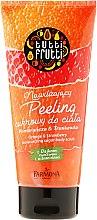 """Voňavky, Parfémy, kozmetika Cukorový telový peeling """"Pomaranč a jahoda"""" - Farmona Tutti Frutti Sugar Body Scrub Orange & Strawberry"""