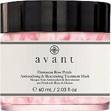 Voňavky, Parfémy, kozmetika Antioxidačná a regeneračná maska s okvetnými lístkami damašskej ruže - Avant Damascan Rose Petals Antioxidising & Retexturing Treatment Mask