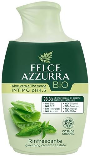 Tekuté mydlo pre intímnu hygienu - Felce Azzurra BIO Aloe Vera&Green Tea
