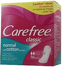 Voňavky, Parfémy, kozmetika Hygienické každodenné vložky, 56 ks - Carefree Classic Normal With Cotton Extract