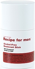 Voňavky, Parfémy, kozmetika Dezodorant - Recipe For Men Alcohol Free Deodorant Stick