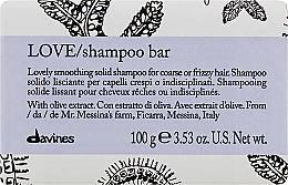 Voňavky, Parfémy, kozmetika Tuhý šampón na vyrovnávanie hrubých a vlnitých vlasov - Davines Essential Haircare Love Smooth Shampoo Bar