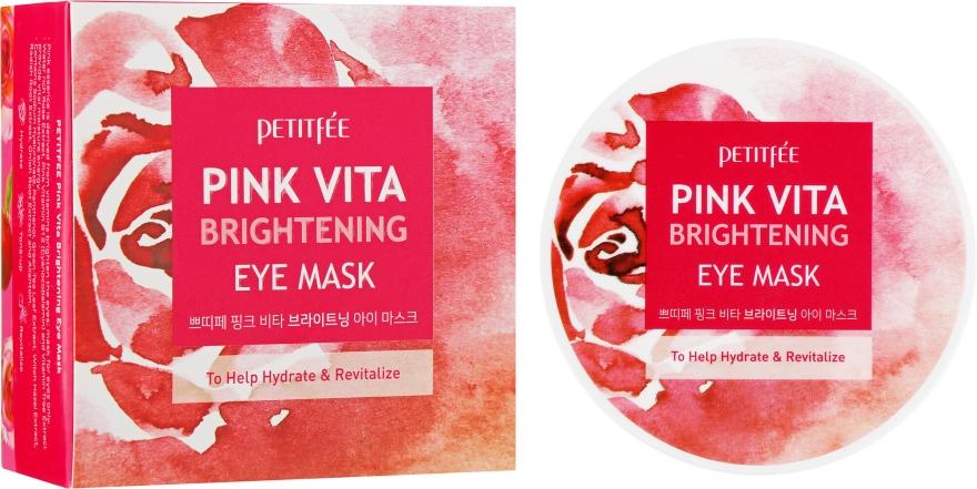 Rozjasňujúce vankúšiky pod oči na báze ružovej vody - Petitfee&Koelf Pink Vita Brightening Eye Mask