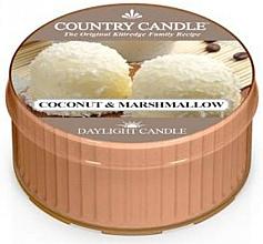 "Voňavky, Parfémy, kozmetika Čajová sviečka ""Kokosový marshmallow"" - Country Candle Coconut Marshmallow Daylight"