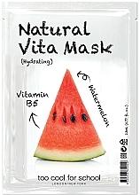 """Voňavky, Parfémy, kozmetika Hydratačná textilná maska na tvár """"Melón"""" s vitamínom B5 - Too Cool For School Natural Vita Mask Hydrating"""