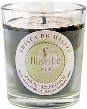 "Voňavky, Parfémy, kozmetika Masážna sviečka ""Regenerácia. Zelená"" - Flagolie Green Regeneration Massage Candle (mini)"