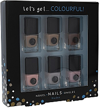 Voňavky, Parfémy, kozmetika Sada - Cosmetic 2K Let'S Get Colourful! Nudes Nail Polish (nail/laquer/6x5ml)