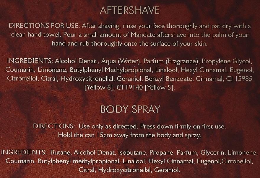 Eden Classic Mandate - Sada (aftershave/100 ml + b/spray 150 ml) — Obrázky N5