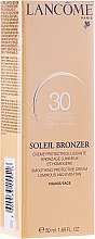 Voňavky, Parfémy, kozmetika Opaľovací krém pre tvár - Lancome Soleil Bronzer Smoothing Protective Cream SPF 30
