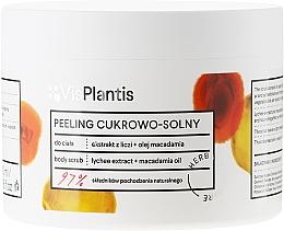"""Voňavky, Parfémy, kozmetika Telový peeling """"Liči a makadamský olej"""" - Vis Plantis Sugar & Salt Body Scrub"""