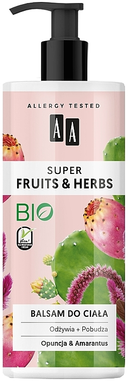 """Lotion na telo """"Opuncia a láskavec"""" - AA Super Fruits & Herbs"""
