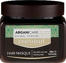 Voňavky, Parfémy, kozmetika Maska na obnovu štruktúry vlasov s kokosovým olejom - Arganicare Coconut Hair Masque For Dull, Very Dry & Frizzy Hair