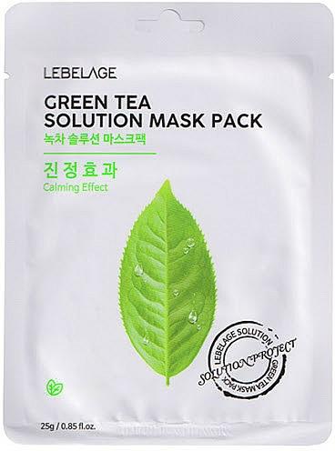 Textilná maska na tvár - Lebelage Green Tea Solution Mask