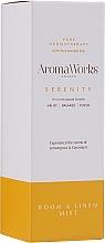"""Voňavky, Parfémy, kozmetika Domáci sprej """" Vyrovnanosť"""" - AromaWorks Serenity Room Mist"""