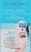 Voňavky, Parfémy, kozmetika Osviežujúce náplasti na oči - Eveline Cosmetics Hyaluron Hydrogel Illuminating Eye Pads 8in1
