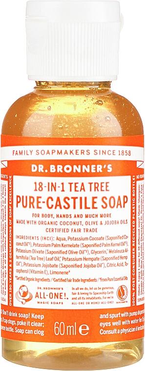 """Tekuté mydlo """"Čajový strom"""" - Dr. Bronner's 18-in-1 Pure Castile Soap Tea Tree"""