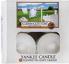 Voňavky, Parfémy, kozmetika Čajové sviečky - Yankee Candle Scented Tea Light Candles Clean Cotton