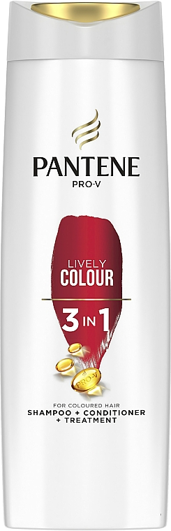 Šampón 3v1 pre farbené vlasy - Pantene Pro-V Lively Colour 3in1 Shampoo